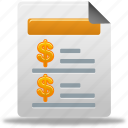 document, file, report, sales icon