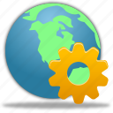 globe, management, web, wheel icon