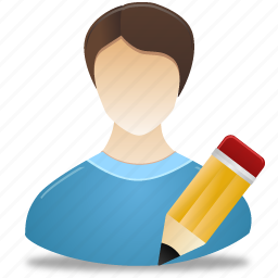 administrator, edit, male, man, pencil, user icon