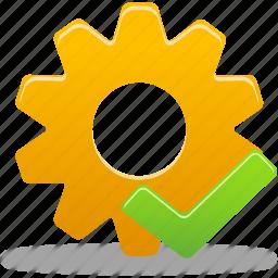 accept, check, process, wheel icon