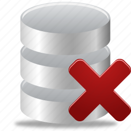data, database, delete, from, remove icon