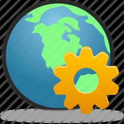 globe, management, web, wheel icon