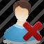 administrator, delete, male, man, remove, user icon