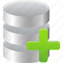 add, data, database, to icon