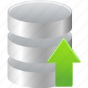 data, database, upload icon