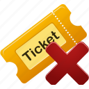 delete, remove, ticket icon