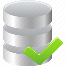 accept, data, database icon