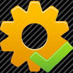 accept, check, process, setting, wheel icon