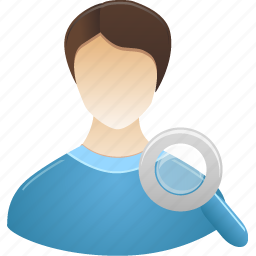 administrator, male, search, student, user icon