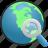 globe, search icon
