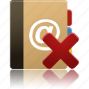 phonebook, addressbook, remove, delete, contact, address, book icon