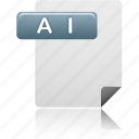 ai, ai file, document, file icon