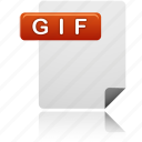 document, file, gif, gif file icon