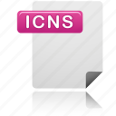 document, icns file, icns, file, file type, format, page icon