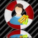 ticket, help center, help, information, service, support, info icon