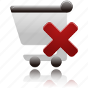 cart, delete, remove, shopping, shopping cart icon
