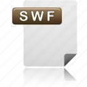 document, swf file, file, swf, format, file type, sheet icon