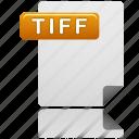 tiff file, tiff, document, file, format, sheet, file type icon