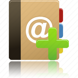 add, addressbook, phonebook icon