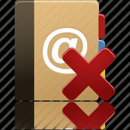 addressbook, phonebook, remove icon
