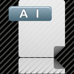 ai, ai file, document, file icon