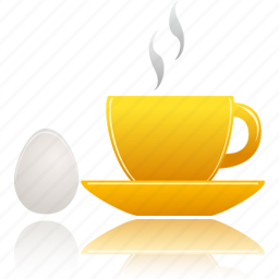 breakfast, cup, egg icon