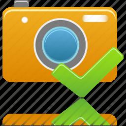 accept, camera, check icon