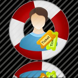 help, help center, ticket icon