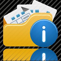 file, files, folder, info, open icon