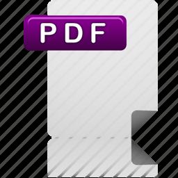 document, file, pdf, pdf file icon