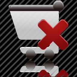 cart, delete, remove, shopping, shopping cart icon