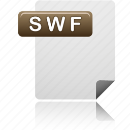 document, file, swf, swf file icon