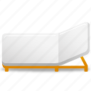 bed, rollaway, rollaway bed icon