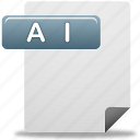 ai file, document, file icon