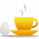 breakfast, coffee, cup, egg icon