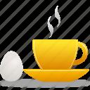 breakfast, egg, coffee, cup