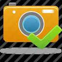 accept, camera, comfirm icon