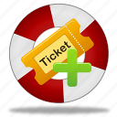 add ticket, create, help, ticket icon