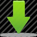 down, download, green arrow, arrow