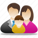 baby, family, father, mather icon