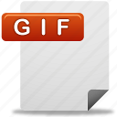 document, gif, gif file icon