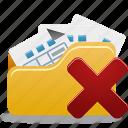 delete, delete from folder, folder, open icon