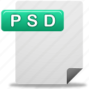 document, file, psd, psd file icon