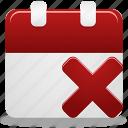 calendar, event, remove, remove event icon