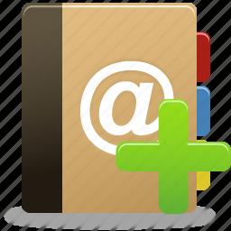add, addressbook, book, edit phonebook, phonebook icon