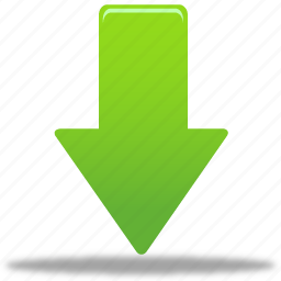 arrow, down, download, green arrow icon