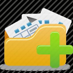 add, add to folder, folder, open icon