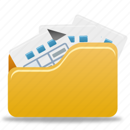folder, full, open, open folder icon
