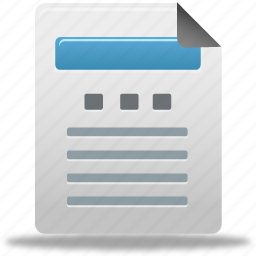 document, file, report icon