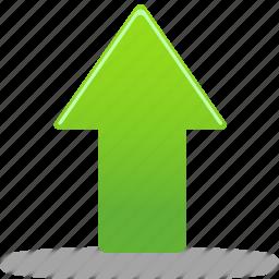 arrow, up, upload, upload file icon